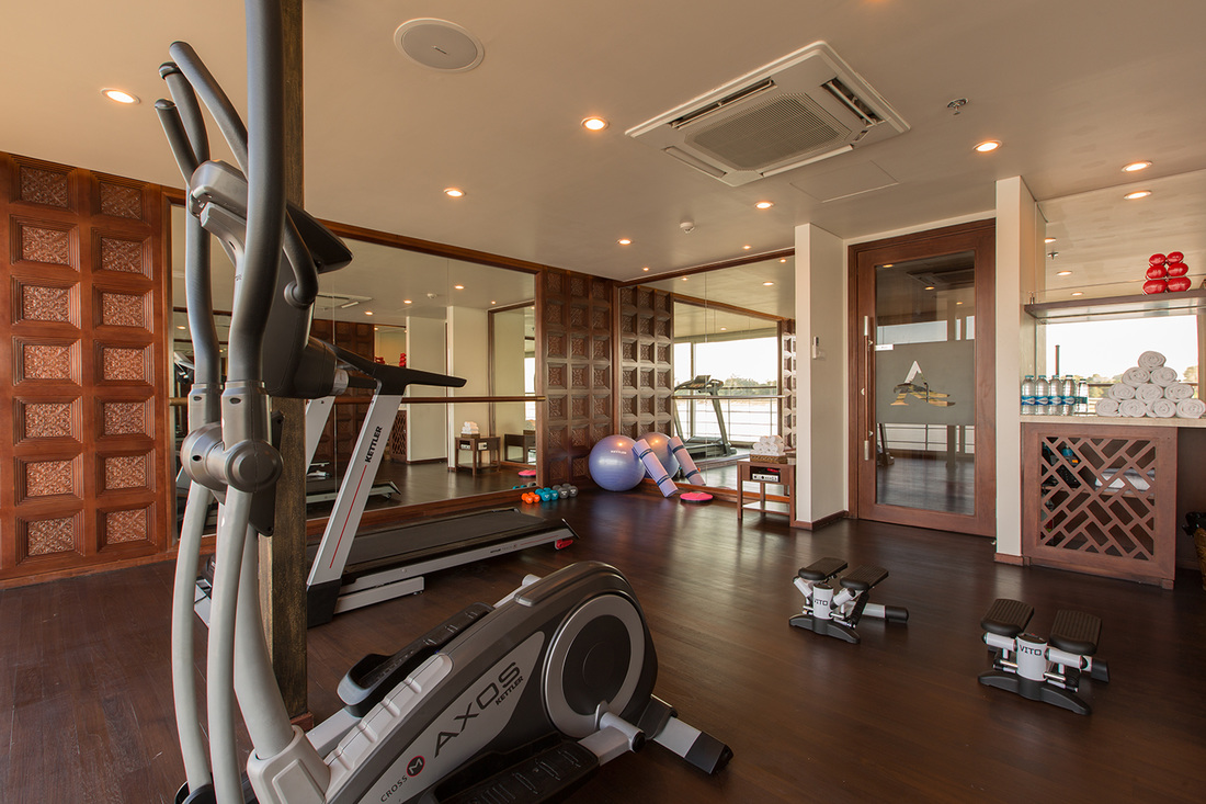 Gym on Avalon Waterways' Avalon Myanmar in Burma