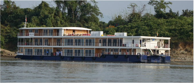 The Avalon Myanmar on the Irrawaddy River in Burma