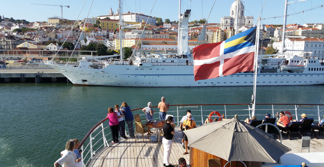 Windstar Cruises Wind Surf departing Lisbon, Portugal