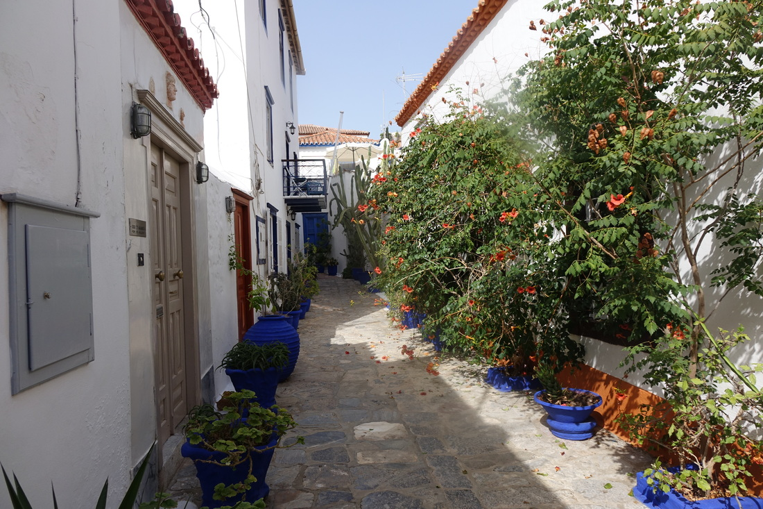 Hydra, Greece, alleyway