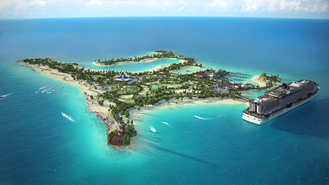 Ocean Cay MSC Marine Reserve in the Bahamas (rendering courtesy MSC Cruises)