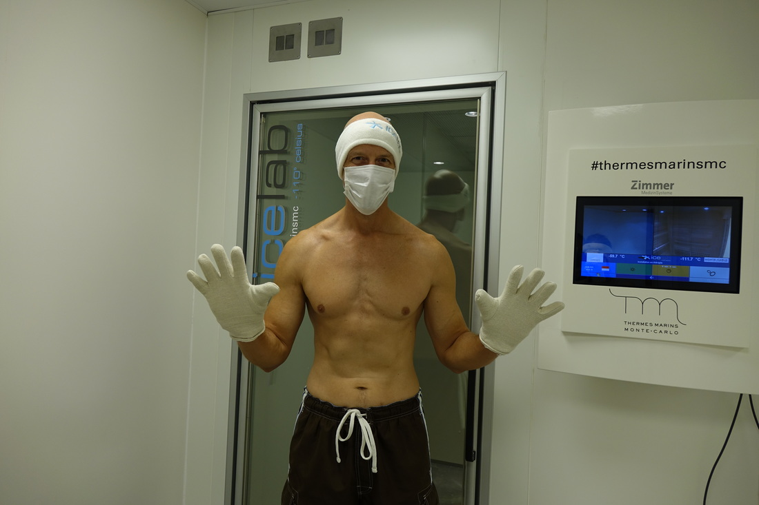 Cryotherapy spa treatment at Thermes Marins in Monte Carlo