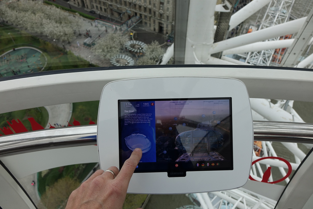London Eye guide tablets