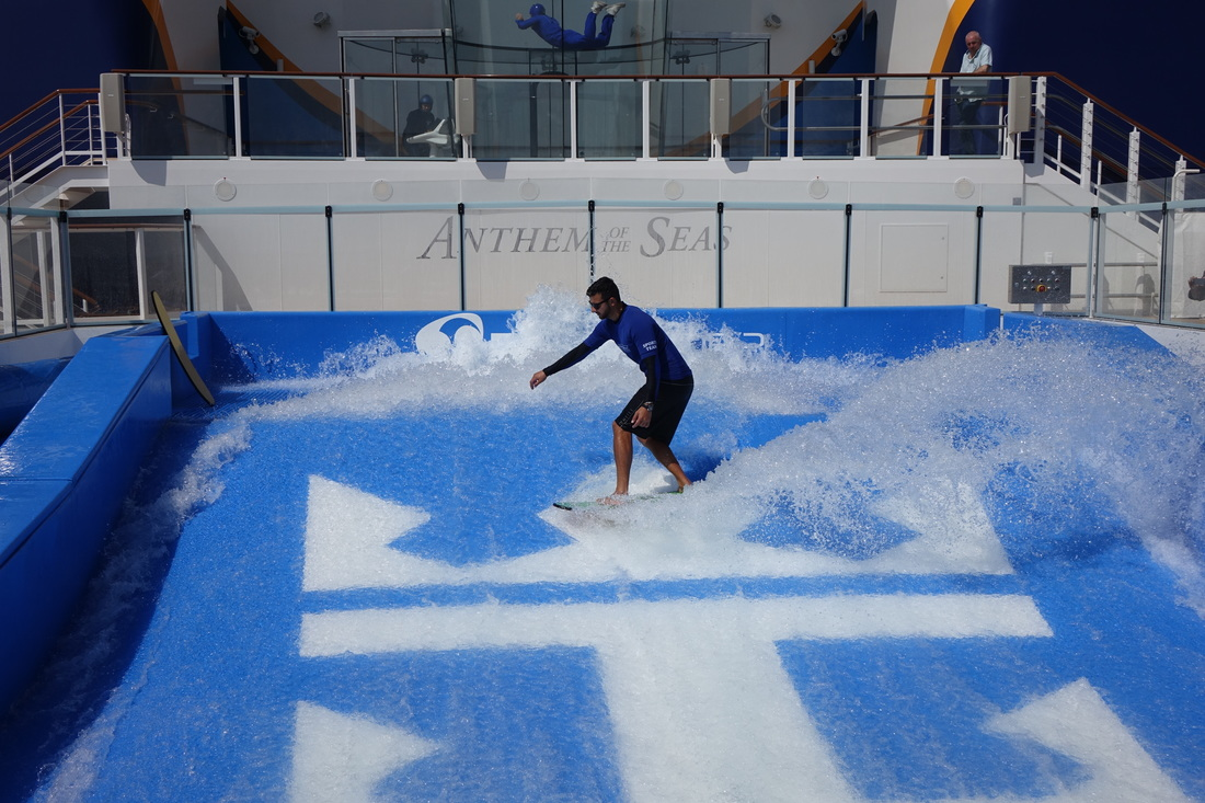 FlowRider on Royal Caribbean's Anthem of the Seas.