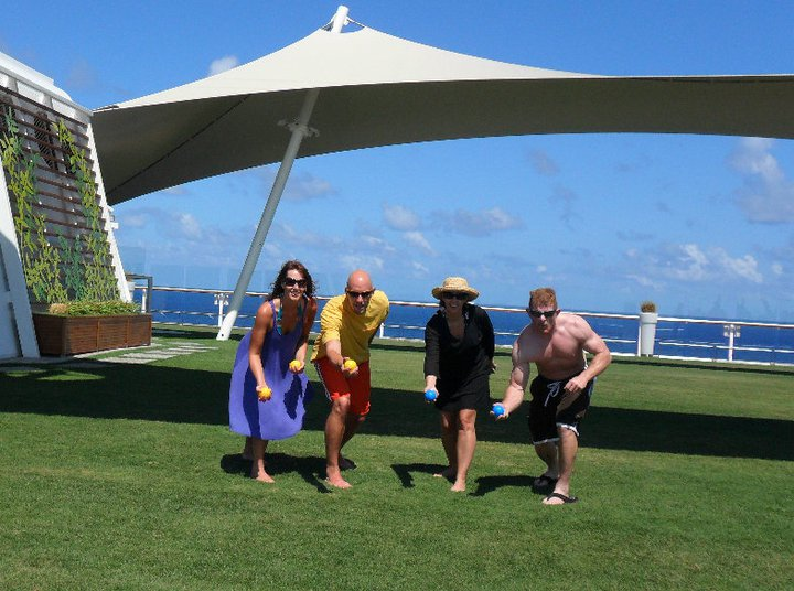 Bocce on the Celebrity Summit lawn club on Celebrity Cruises.