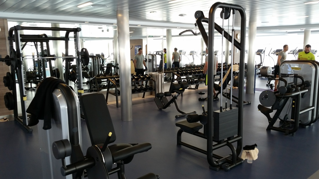 Gymnasium on Royal Caribbean's Anthem of the Seas.