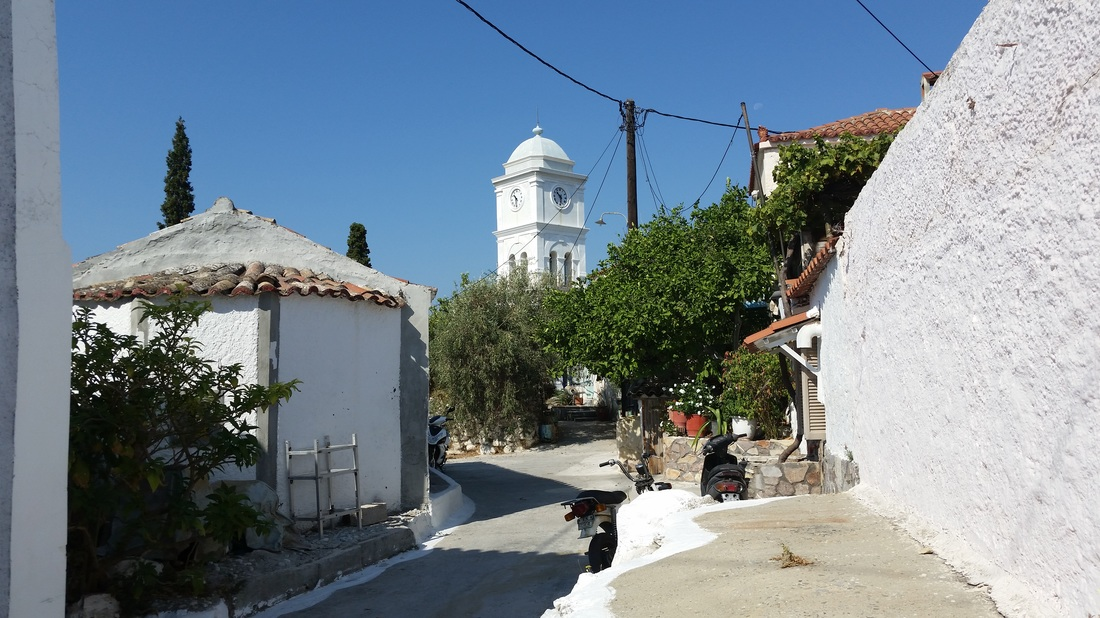 Poros, Greece, clock tower