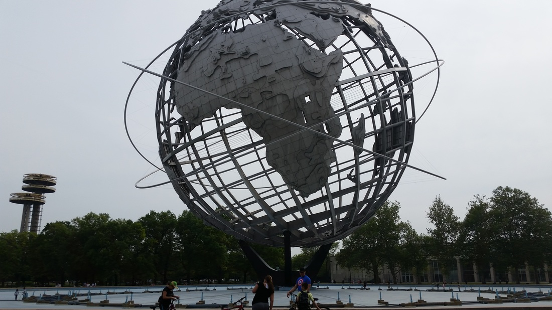 The Unisphere at Flushing Meadows -- Corona Park in Queens.