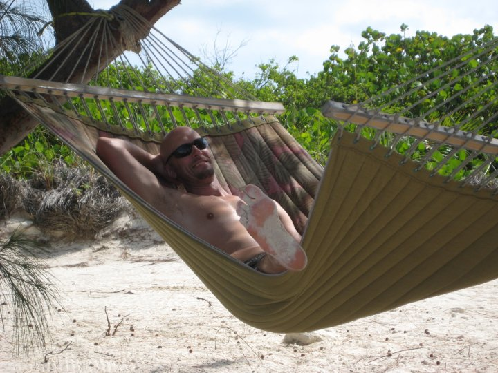 Hammock on Half Moon Cay, Holland American Line's private beach in the Bahamas