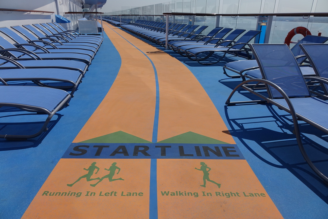 The jogging track on Royal Caribbean's Anthem of the Seas