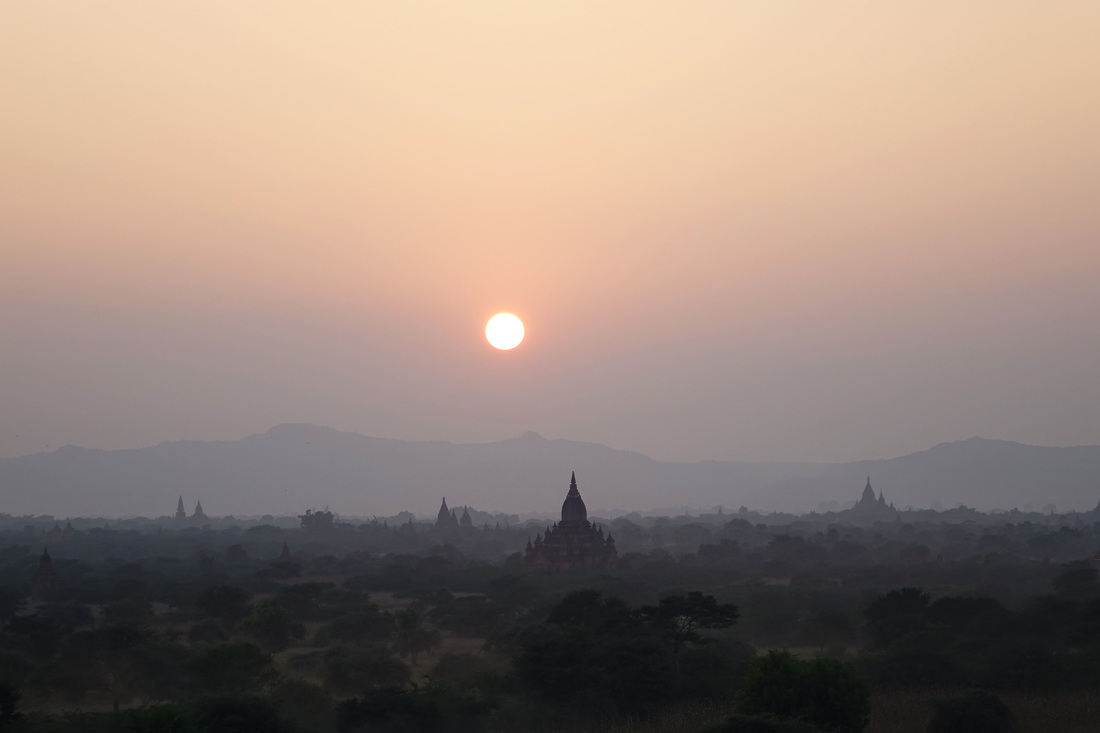 Another popular place to view sunset and a cultural icon is the spectacular plains of Bagan in Burma (Myanmar)