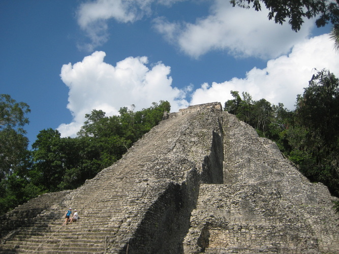 The ruins of Nohoch Mul in Coba in the Yucatan peninsula in Mexico.