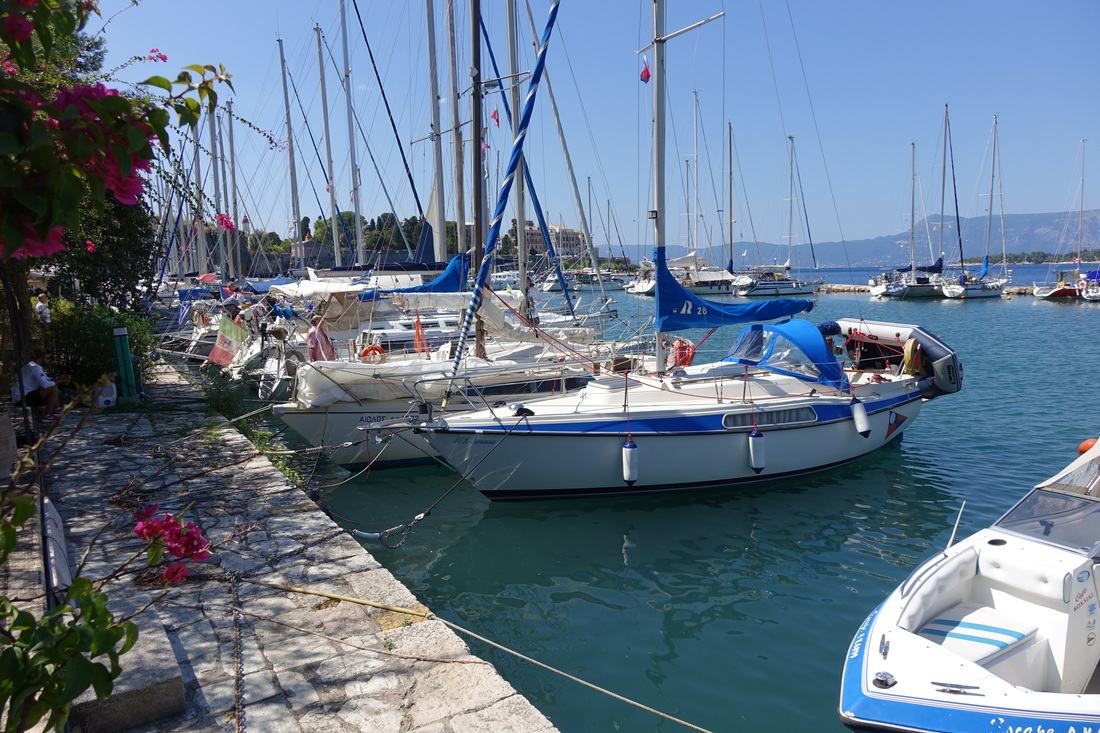 Marina at the Old Fortress in Corfu, Greece