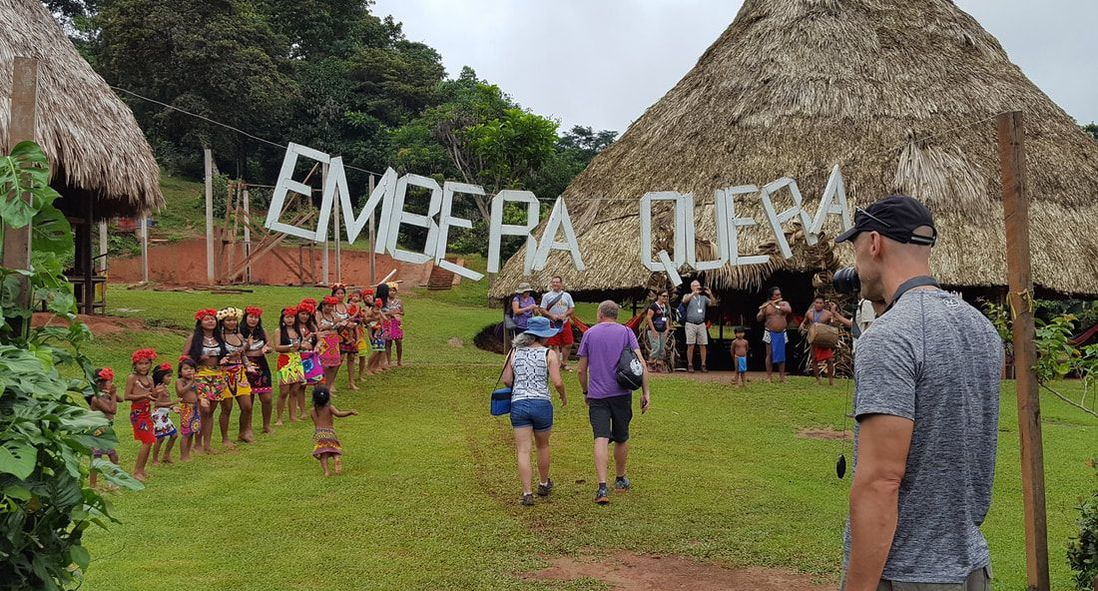 Visiting Embera Quera Village in Panama