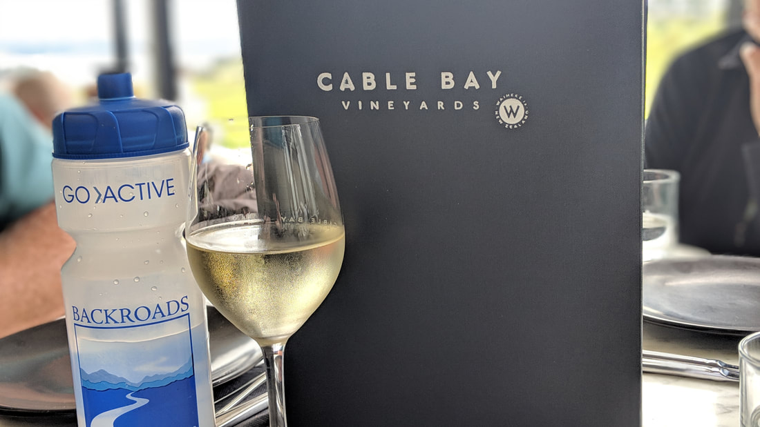 Cable Bay vineyard on Waiheke Island in New Zealand