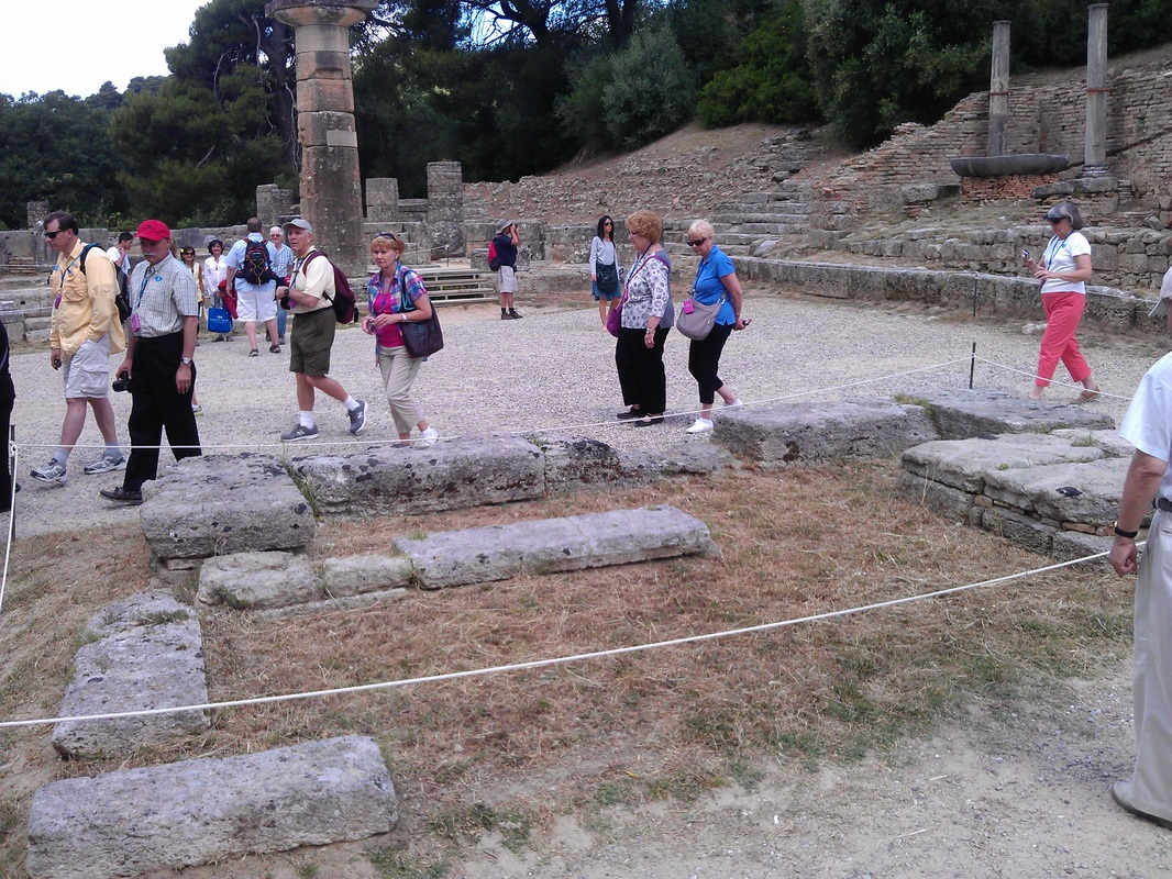 ancient Olympic torch site at Olympia