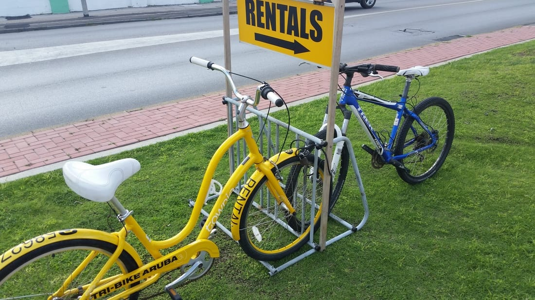 Bicycle rentals in Aruba