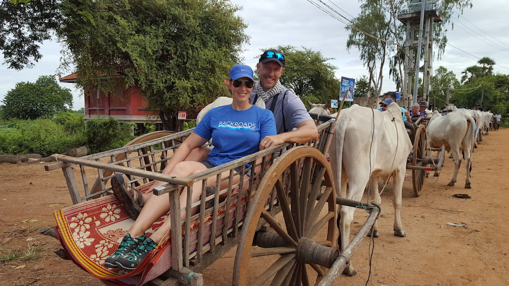 Oxcart rides in Cambodia