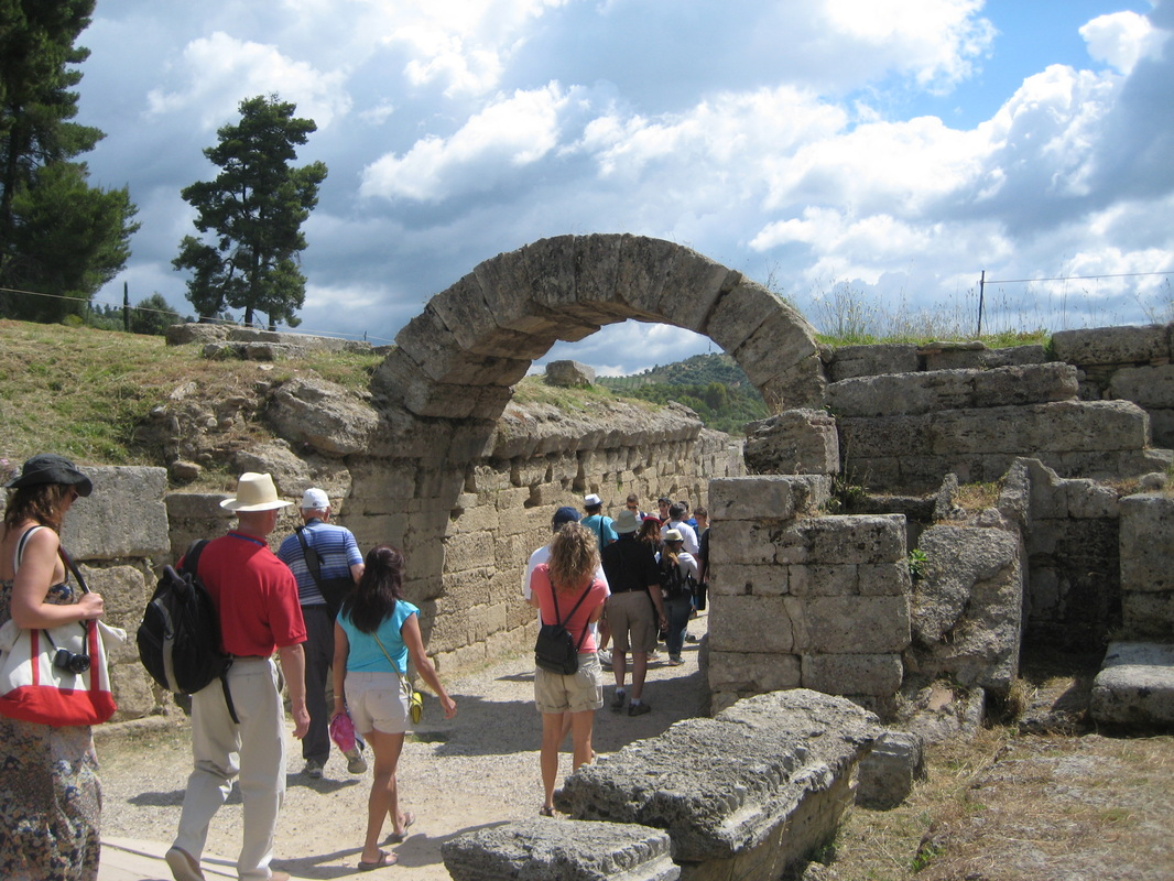 entrance to ancient stadium at Olympia