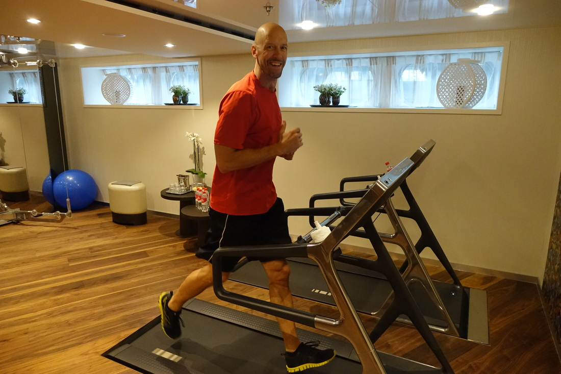 AmaWaterways gym and treadmills