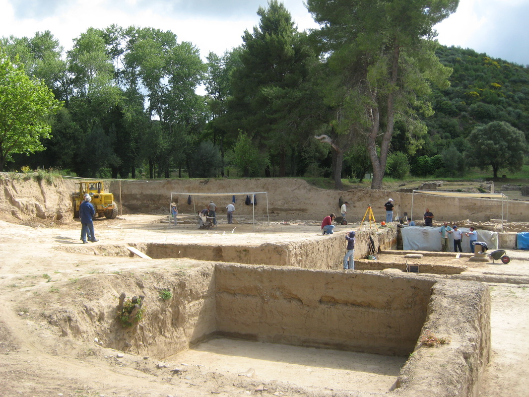 archaeological dig site at Olympia