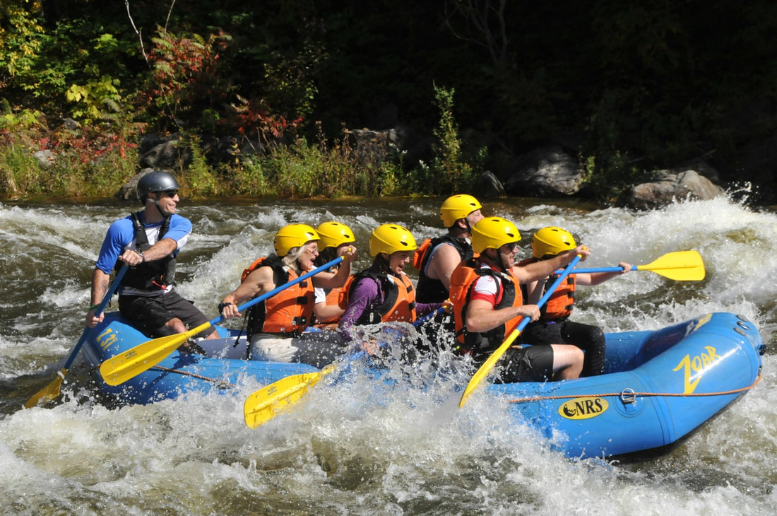 Whitewater rafting in Vermont