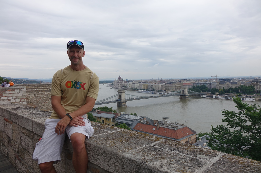 Castle Hill over the Danube River in Budapest, Hungary