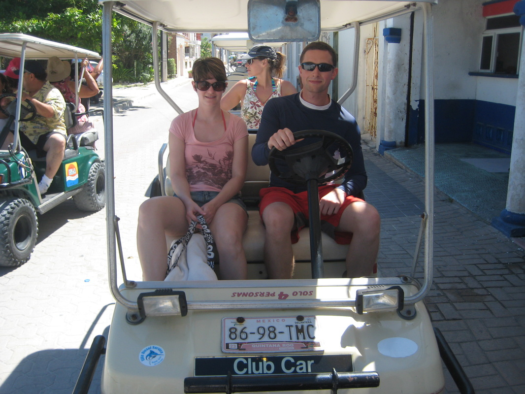 gold cart rental, Isla Mujeres, Mexico