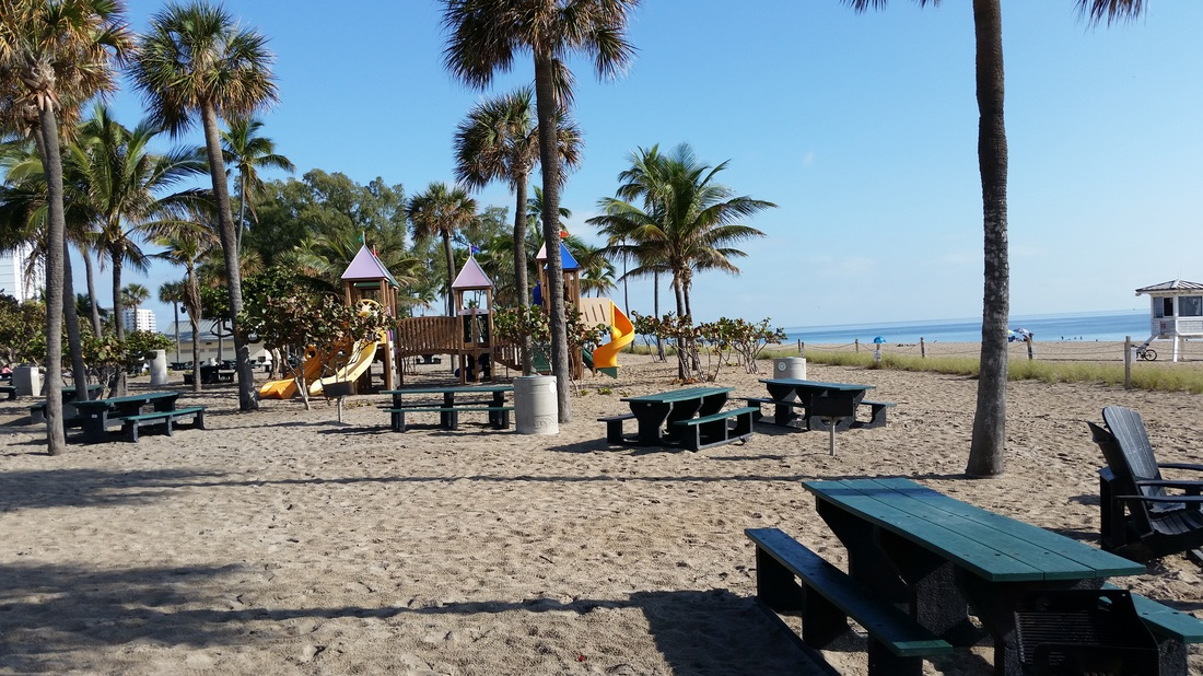 Fort Lauderdale Beach picnic area and playground
