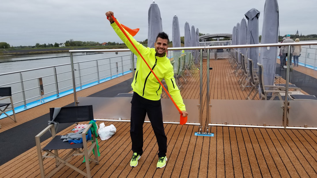 Andre Almeida, wellness host for AmaWaterways