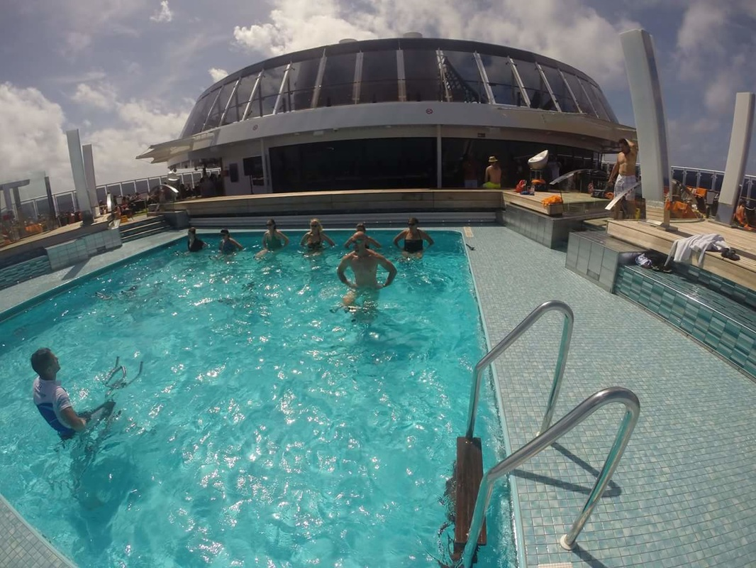 AquaCycle spin class on MSC Divina