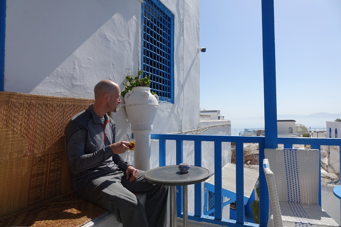 Sidi Bou Said, Tunisia, rooftop cafe