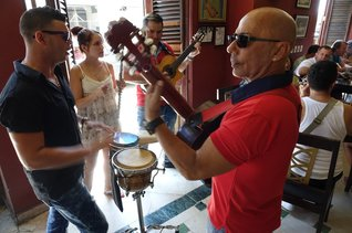 Live music at Dos Hermanos in Havana, Cuba