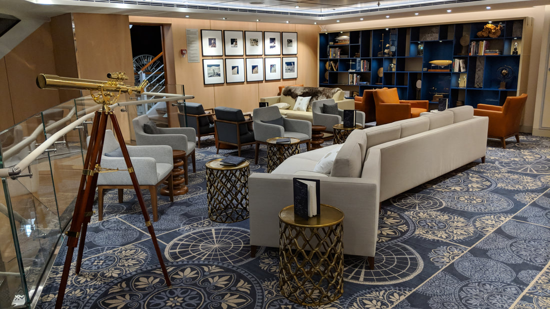 The Explorers' Lounge on Viking Orion