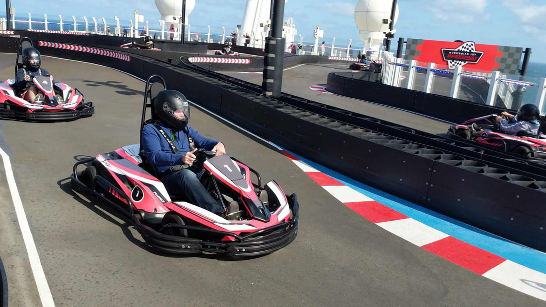 Go-kart track on Norwegian Cruise Line Norwegian Bliss