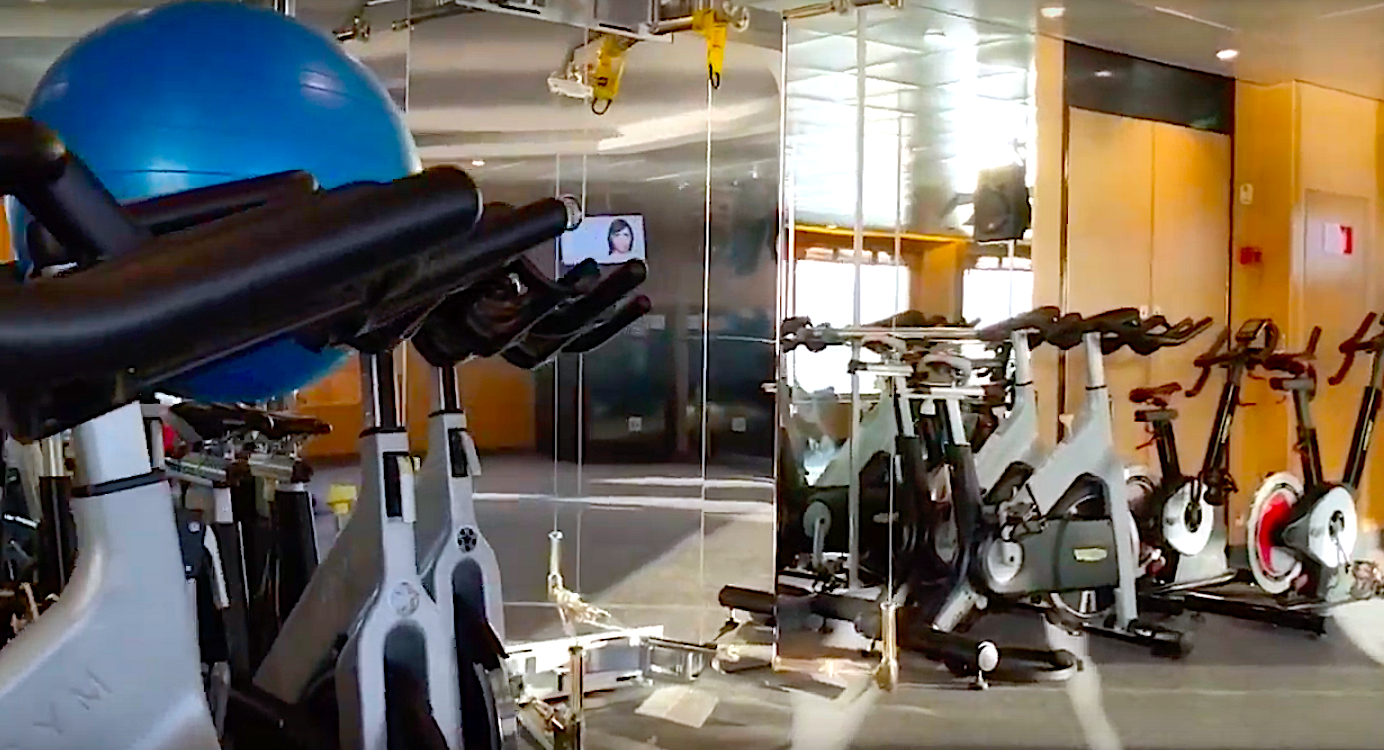 fitness studio on Crystal Serenity cruise ship
