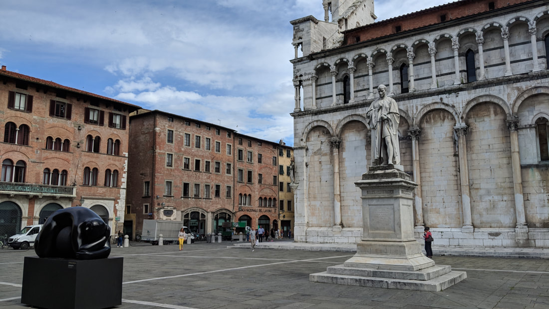 Lucca, Italy, main square San Michele church