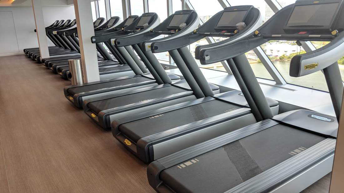 Treadmills on Celebrity Edge