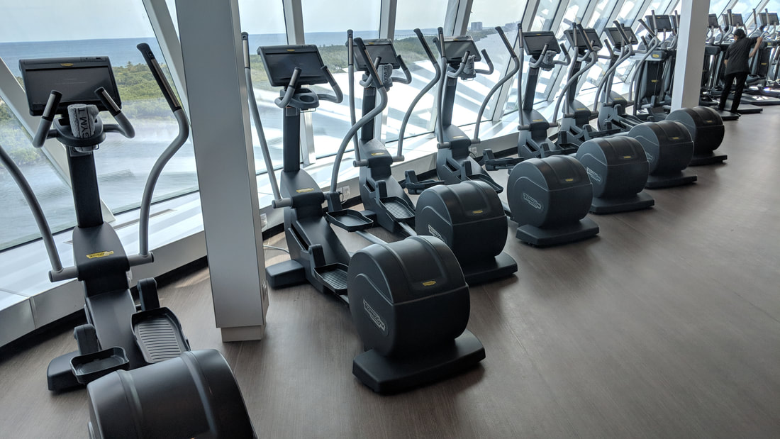 Celebrity Edge cardio equipment in fitness center