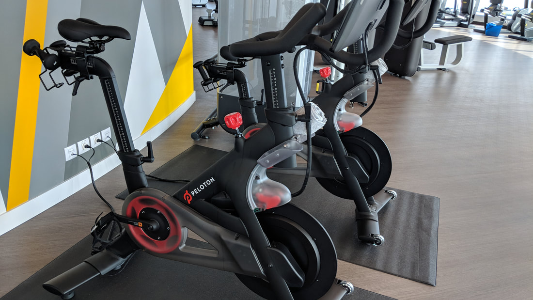 Peloton bikes on Celebrity Edge