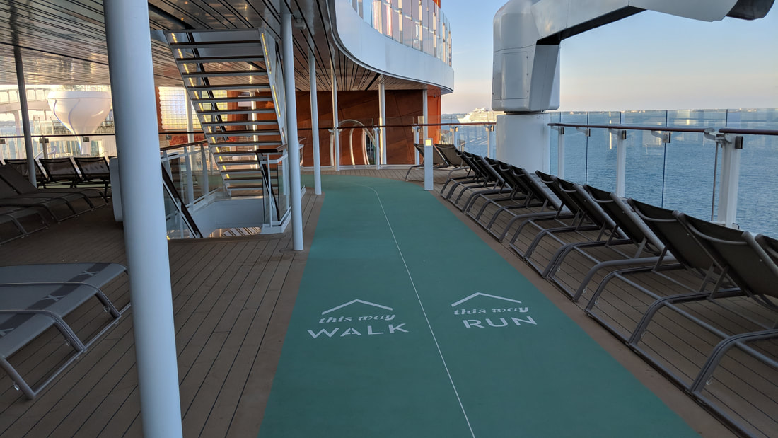 Jogging track on Celebrity Edge