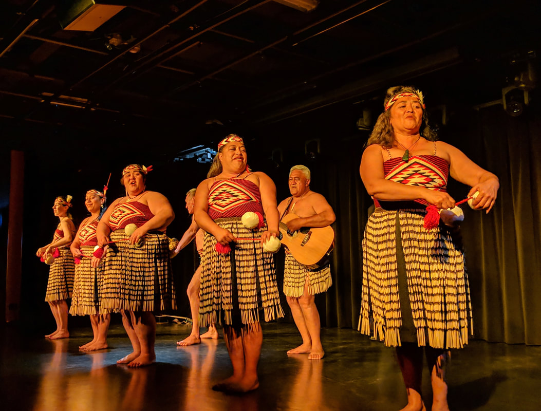 A Maori dance and song performance