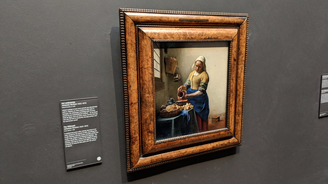 The Milkmaid at The Rijksmuseum in Amsterdam