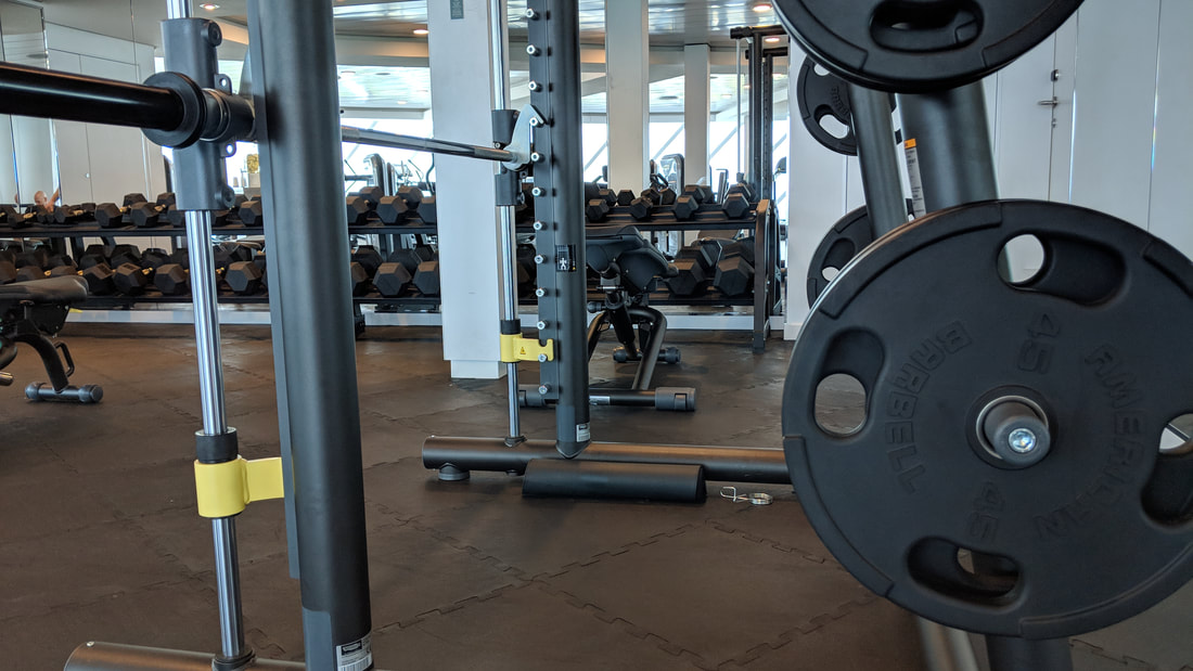 Weights on Celebrity Edge