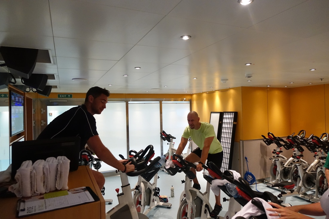RYDE spin class on Carnival Vista