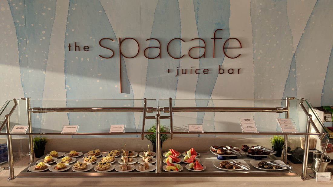 The Spa Cafe and Juice Bar on Celebrity Edge is a nice place to get a smoothie or light healthy meal.