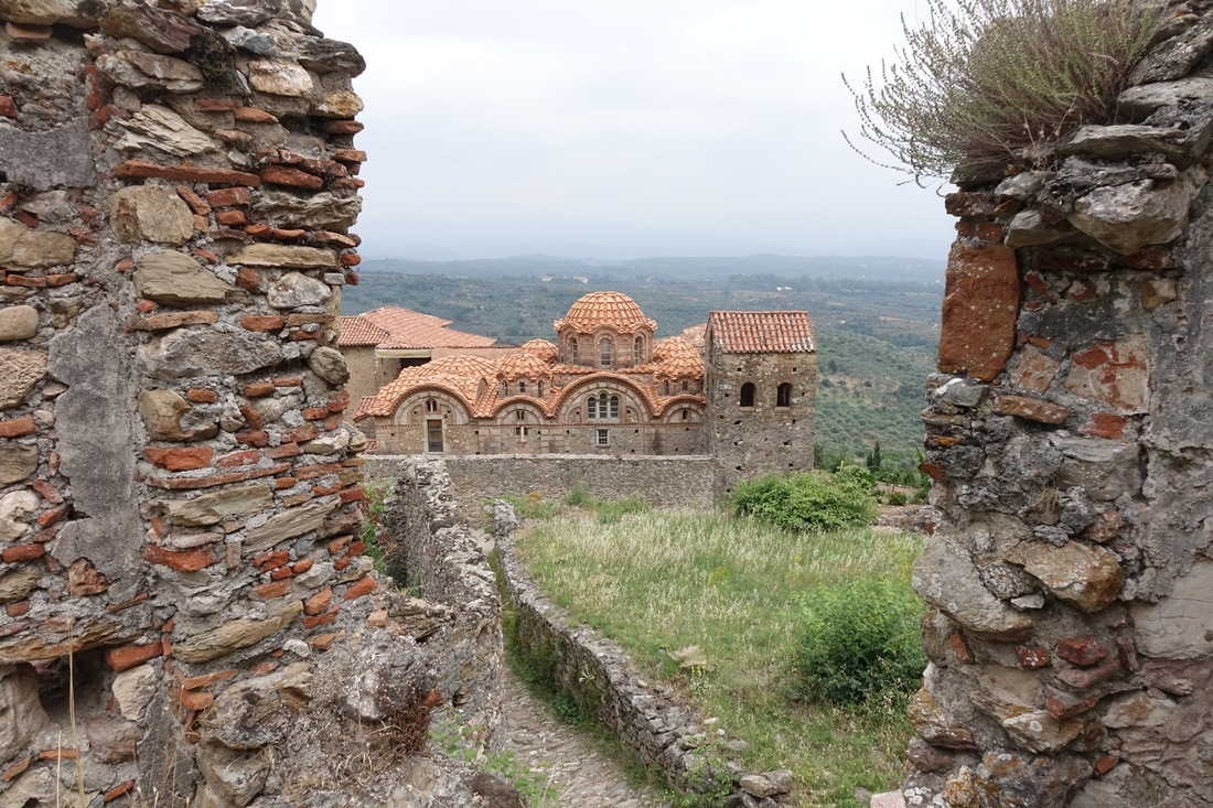 The UNESCO village of Mystras, Greece