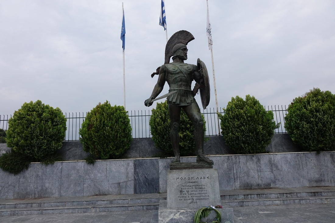 King Leonidas statue in Sparta, Greece.