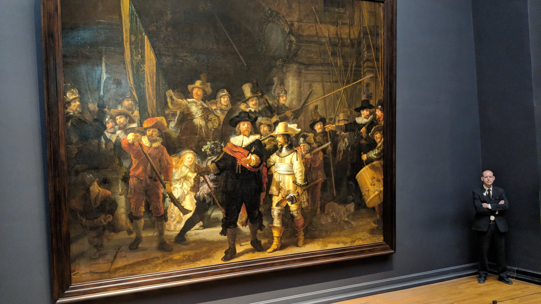 The Night Watch at The Rijksmuseum in Amsterdam